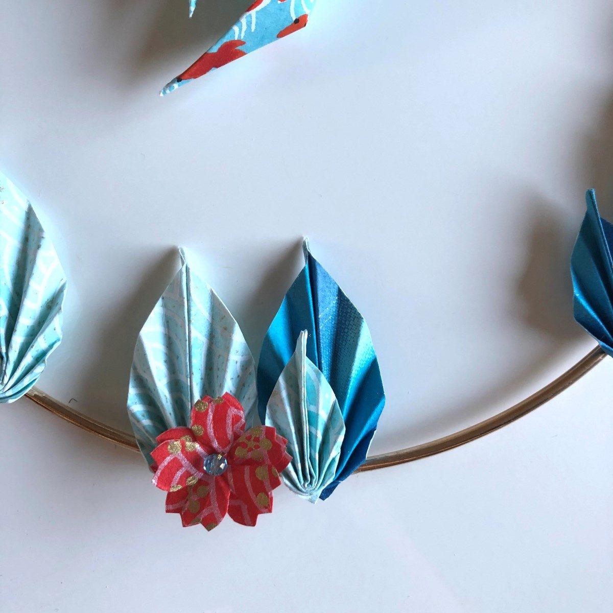 Couronne Shimoda avec poissons en origami