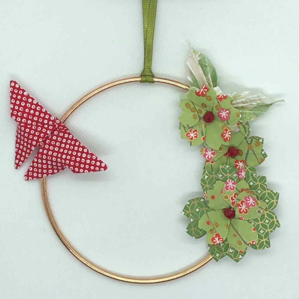 Couronne Izu avec fleurs en origami –  Bambou
