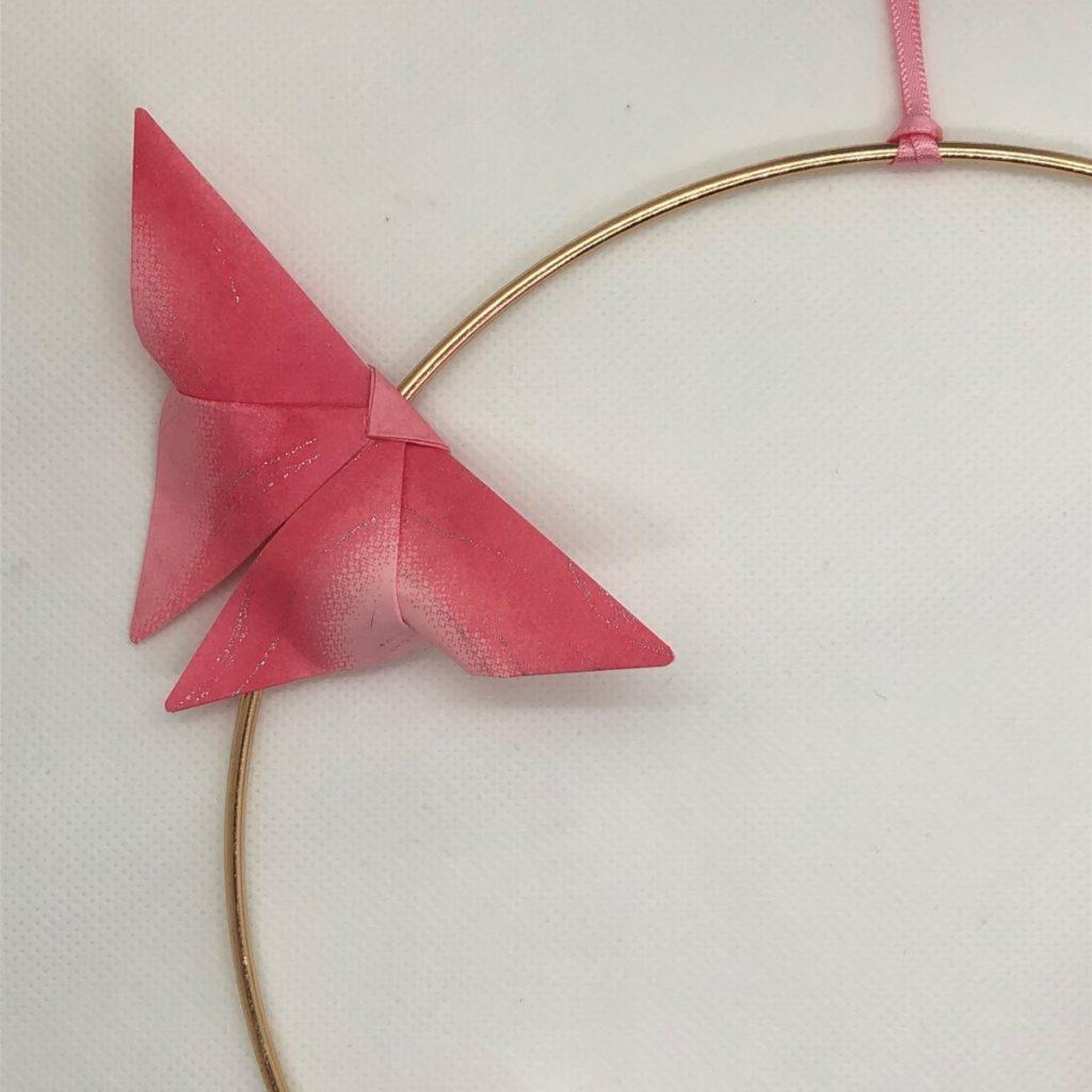 Couronne Kamakura avec fleurs en origami – Liberty rose