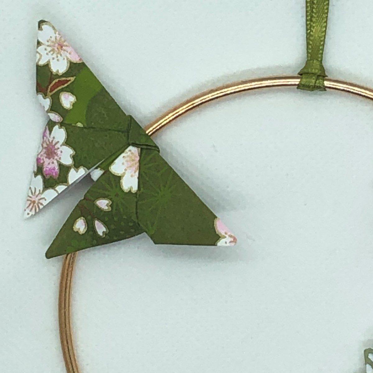 Couronne Izu, avec fleurs en origami – Prairie