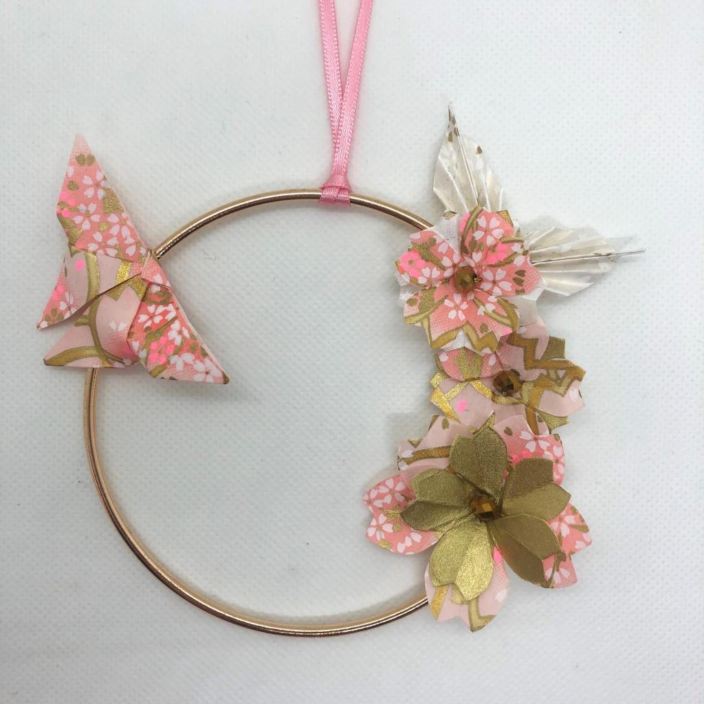 Couronne Izu avec fleurs en origami – Sakura