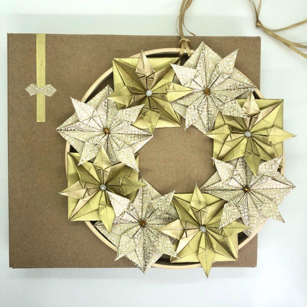 Couronne Kyoto – Noël Blanc & Doré