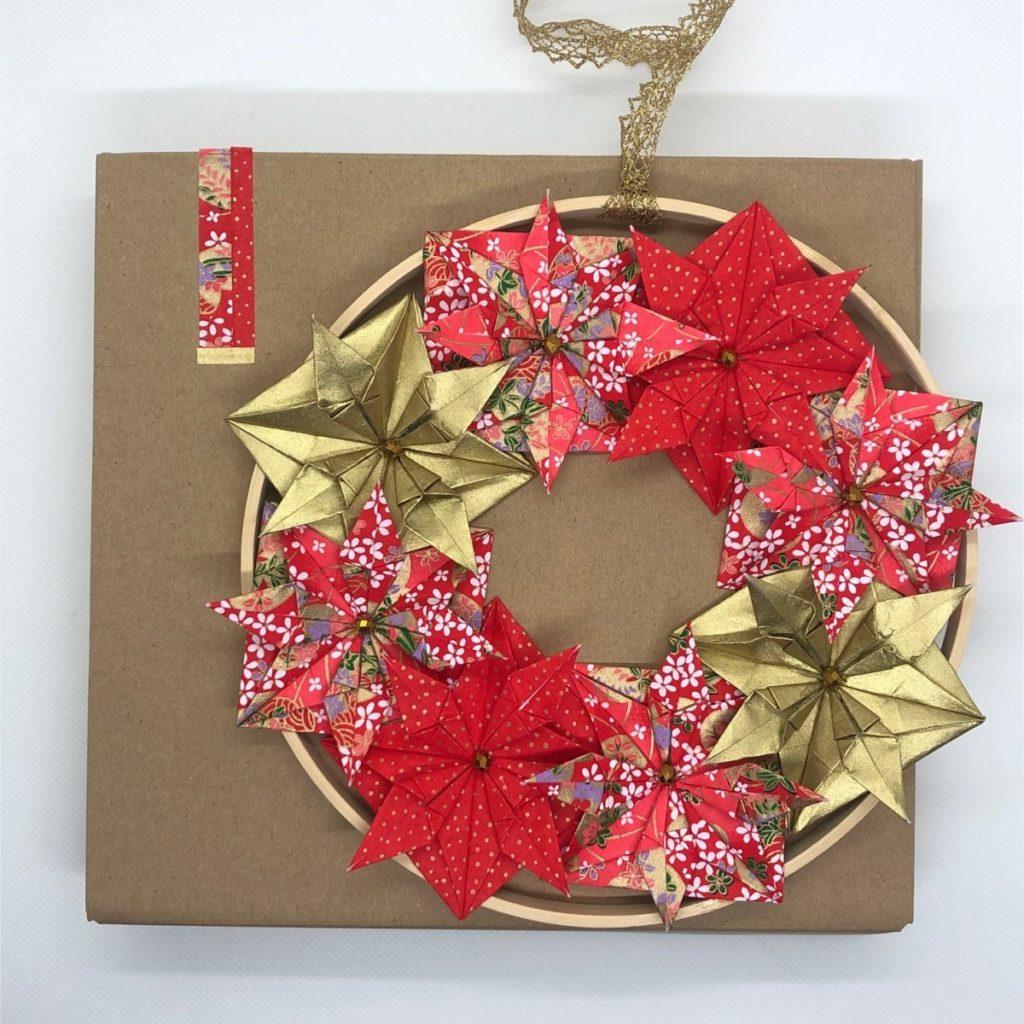 Couronne Kyoto – Noël Rouge & Doré