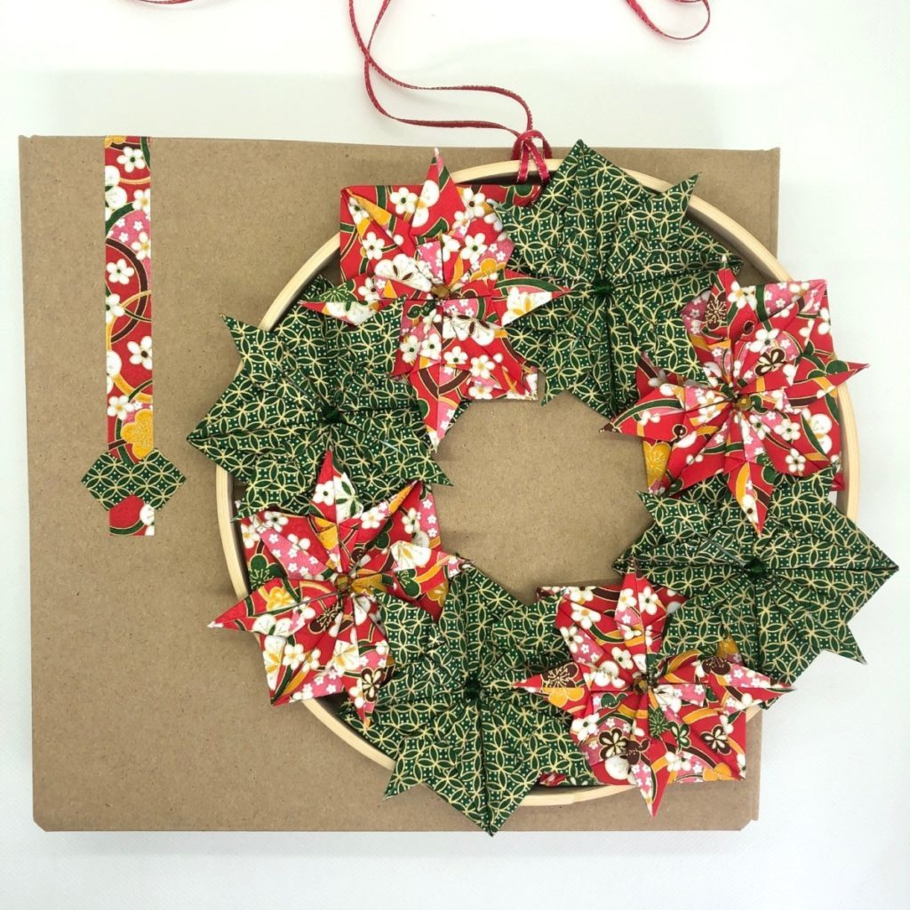 Couronne Kyoto – Noël Rouge & Vert