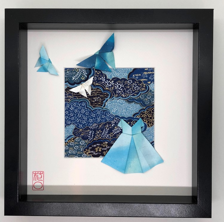Cadre personnalisé avec 1 à 5 origamis