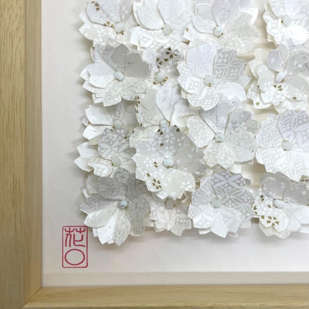 Cadre en bois envolée de fleurs Blanc & Noir