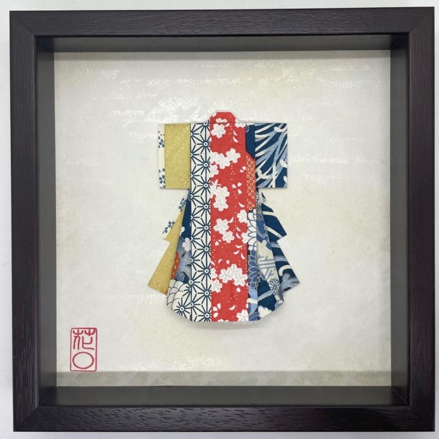 Cadre en bois Kimono Printanier