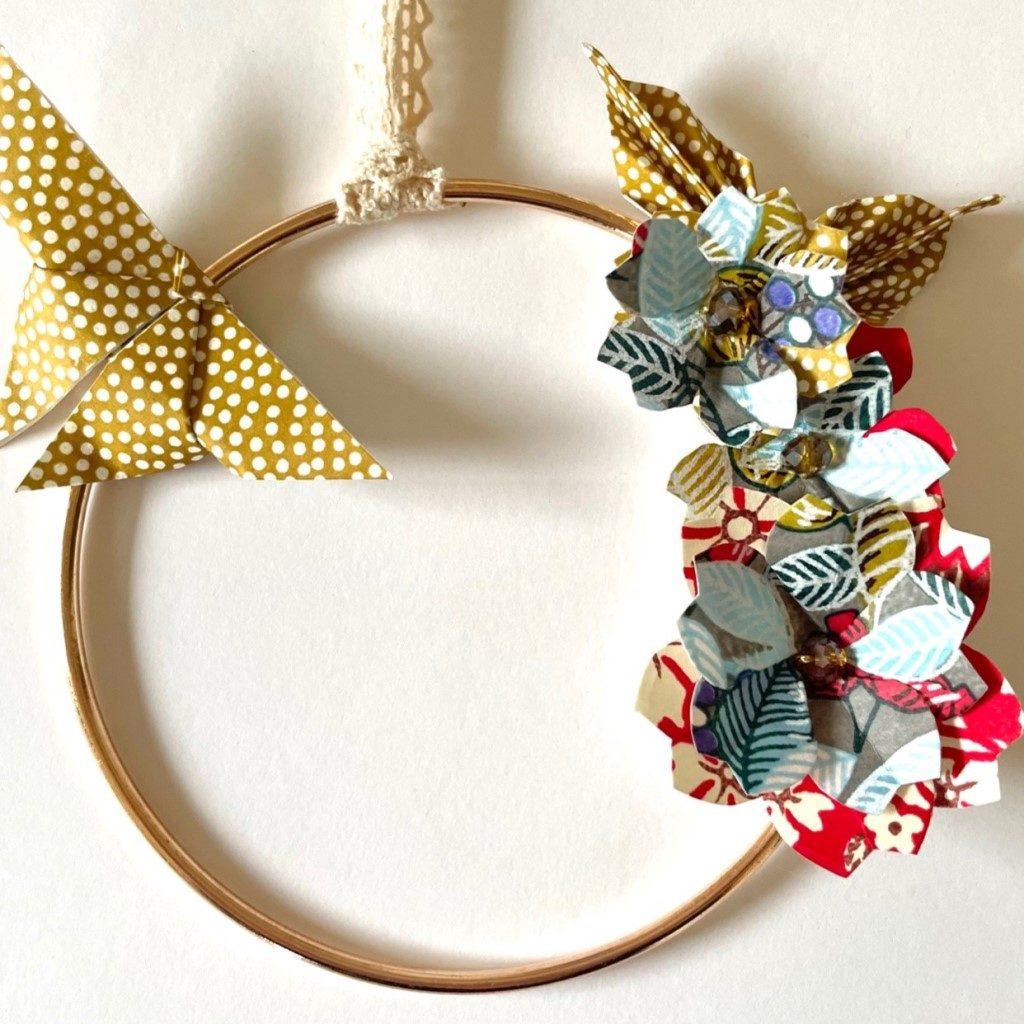 Couronne Izu avec fleurs en origami – Tropique