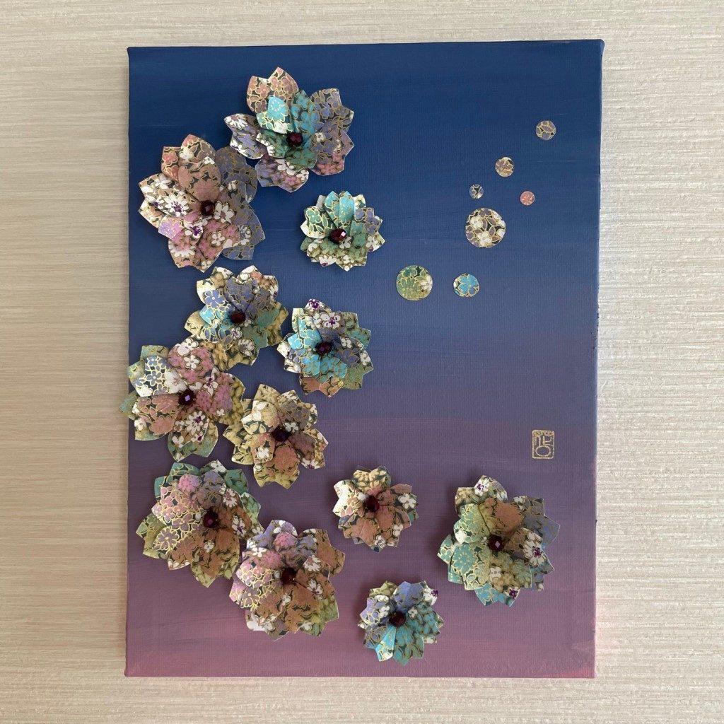 Tableau Origami & Acrylique – SUNSET